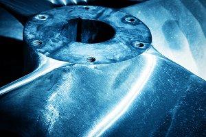 Heavy shipbuilding element close up
