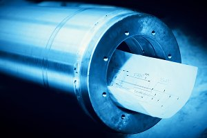 Steel cylinder with industrial plans