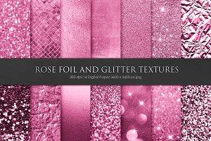 Valentine's Day Rose Foil Textures
