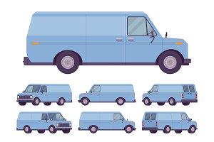 Blue van set