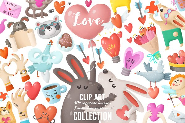 Graphic Objects: Andrei K. - Love clip art collection