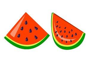 Watermelon Icon Vector. Tasty Fruit