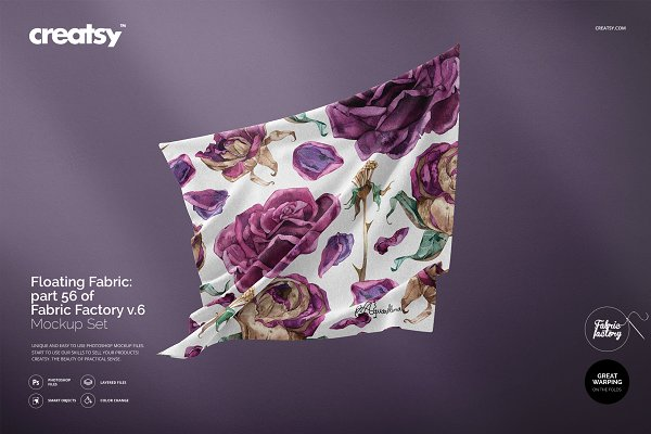 Product Mockups - Floating Fabric Mockup 56/FF v.6