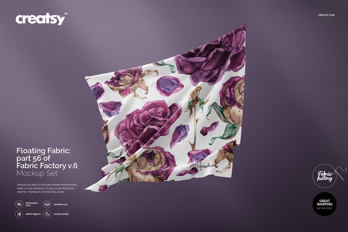 Floating Fabric Mockup 56/FF v.6