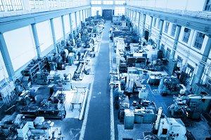 Industry workshop, factory