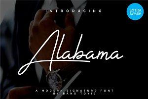 Alabama - 3 Signature Font Style