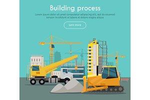 Building Process Web Banner Concept