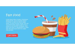 Tasty Fast Food Banner