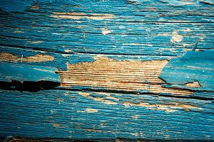 Old Painted Wood II