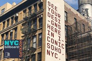 Brick Wall Mockup - Soho, NYC