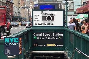 Billboard Mockup - NYC Subway Entry