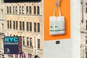 Painted Wall Mockup - NYC