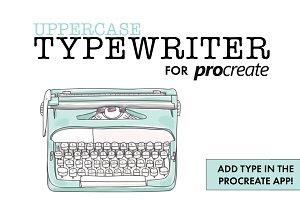 Procreate Typewriter Font Uppercase