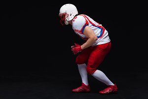 Side view of American football