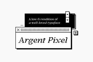 Argent Pixel CF bitmap serif font