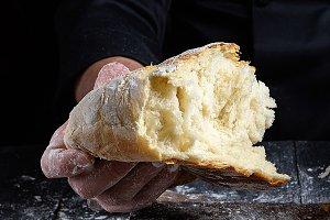 half baked white wheat flour bread