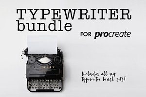 Procreate Typewriter Brush Bundle