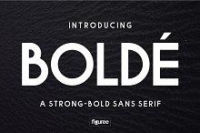 BOLDE - a strong-bold sans serif