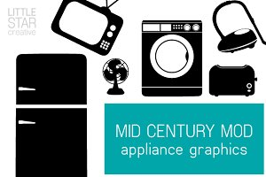 Mid Century Mod Appliance Graphics
