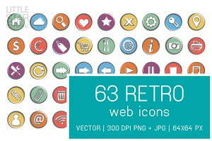Retro Web Icons