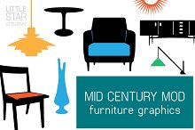 Mid Century Mod Furniture Graphics