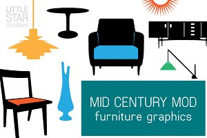 Mid Century Mod Furniture Graphics