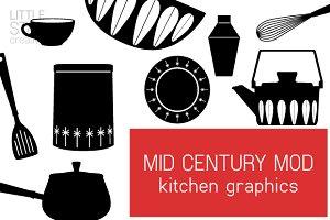 Mid Century Mod Kitchen Graphics