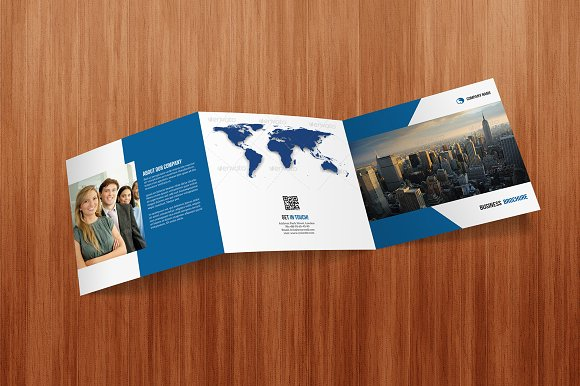 Square tri fold business brochure brochure templates creative square tri fold business brochure brochures accmission Image collections