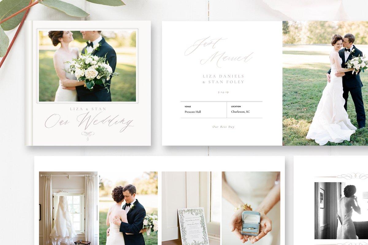 Digital Wedding Album Templates