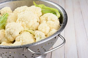 Cauliflower Colander Closeup
