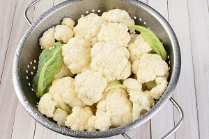 Cauliflower Colander Vertical