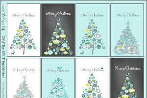 Robins Egg & Chalkboard Digital Tags
