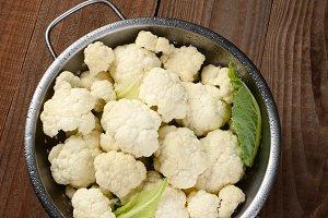 Cauliflower Florets Colander