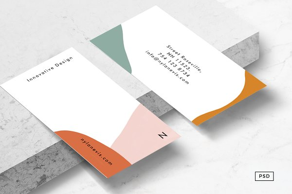 Business Card Templates: 8 3 O® - Isla Business Card Template