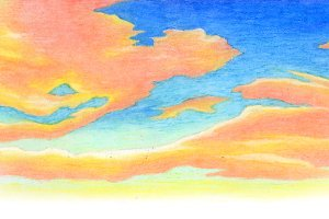 Oil Pastel Sunrise Sky