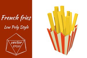 Packing with fries. Vector