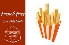 French fries, fast food. Vector