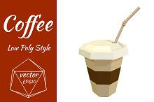 Plastic cup of coffee. Vector