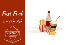 Objects of fast food. Vector