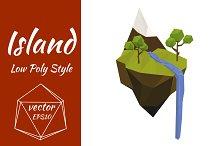 Flying Island. Vector