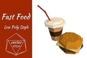 Coffee and Burger. vector