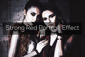Strong Red Portrait Effect