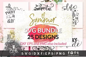 Summer Bundle SVG DXF PNG EPS