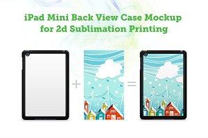 iPad Mini 2d Sublimation Case Mockup