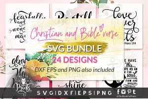 Christian SVG Bundle 24 Designs DXF