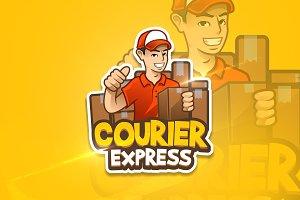 Courier Express - Mascot&Esport Logo