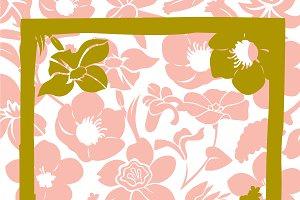 Headscarf Flower Pattern