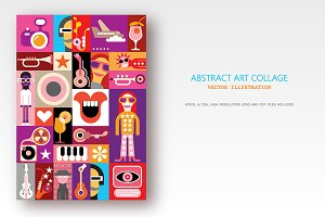 Music Festival Pop Art Collage