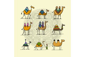 Camels collection, sketch for your