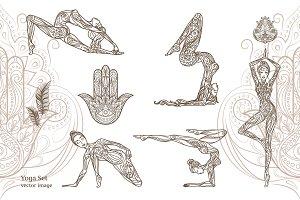 Yoga. Vector illustration.
